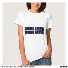 Solar power panel tshirt
