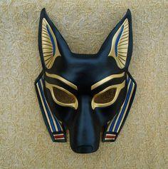 Egyptian Jackal Mask (Anubis) ...handmade leather mask