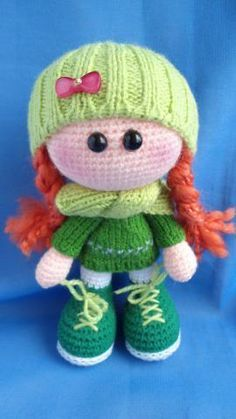 Amigurumi ^_^ crochet doll...some of this looks knit. Reminds me of the cute dolls in Ireland.