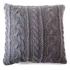 Pom Pom At Home 'Manhattan' Large Euro Sham ($163) ❤ liked on Polyvore featuring home, bed & bath, bedding, bed accessories, pillows, slate, pom pom at home bedding, pom pom at home, knit bedding and oversized bedding