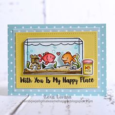 Lawn Fawn Fintastic Friends Card by Lexa Levana