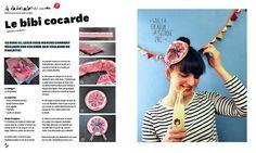 Diy bibi- Paulette atelier krapoutchic cocarde diy
