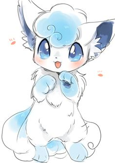 Alolan vulpix so cute