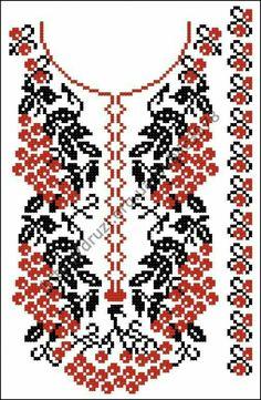Cross stitching , Etamin and crafts: Traditional cross stitch Pattern Polish Embroidery, Folk Embroidery, Embroidery Patterns Free, Hand Embroidery Designs, Cross Stitch Embroidery, Knitting Patterns, Beaded Cross Stitch, Cross Stitch Rose, Cross Stitch Designs