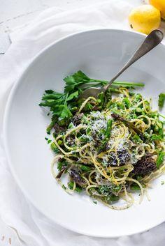 ... Pasta Salad with Asparagus, Mushrooms and Lemon Parsley Dressing