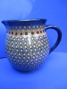 Bunzlauer Keramik Krug signiert handgedreht 20 cm Bunzlau