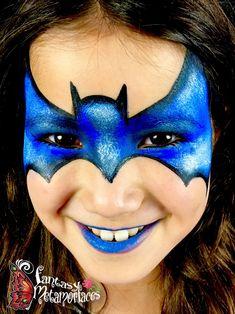 Batman face paint inspired by Olga Murasev