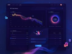 Cryptocurrency Analytic Dashboard UI Design - Cryptocurrency - Ideas of Cryptocurrency - Cryptocurrency Analytic Dashboard UI Design Dashboard Ui, Business Dashboard, Dashboard Design, Interaktives Design, Graph Design, Web Ui Design, Pag Web, Token, User Experience Design