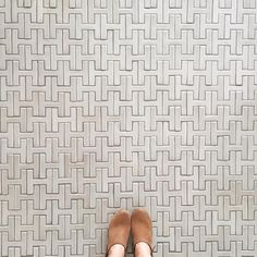 Chaine Homme floor in Sand Dune by Fireclay Tile