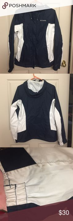 Columbia Arcadia II Rain Jacket Great condition. Not worn very much. The only signs of wear are on the white parts of the sleeves. I've included a picture showing that. 🙂 Columbia Jackets & Coats