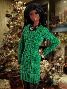 Explore Cozy Couture's photos on Flickr. Cozy Couture has uploaded 544 photos… Diy Doll Clothes Patterns, Crochet Barbie Clothes, Barbie Patterns, Clothing Patterns, Afro, Fashion Dolls, Fashion Outfits, Doll Outfits, Barbie Dress