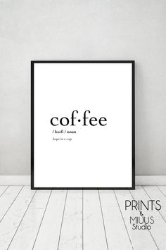 Coffee Definition Print Poster Printable by PrintsMiuusStudio