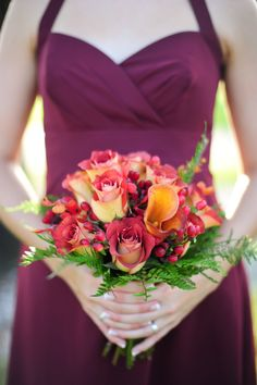 A lovely fall palette | Tampa Fall Wedding from Jillian Tree Photography  Read more - http://www.stylemepretty.com/florida-weddings/2013/11/04/tampa-fall-wedding-from-jillian-tree-photography/