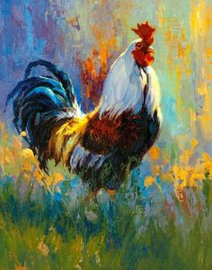 Roosters, Chickens and Other Domestic Animal Paintings by Julie Jeppsen 7
