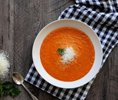Joy the Baker - -  Creamy Roasted Red Pepper Soup