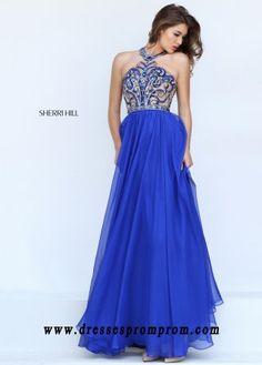 Cheap Sherri Hill 50420 High Neck Illusion Prom Dress Sale