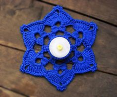 Crochet snowflake candle coaster, tealight holder PDF pattern Material: 100% cotton Dk knitting yarn: color optional crochet hook :3.5mm Abbrevation: MR- Magic ring chain- ch slip stich- sl st sc - single crochet double crochet- Dc treble crochet- Trc Cluster from 6 Dc- CL6
