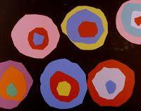 Deep Space Sparkle Art Lessons for Kids: Kindergarteners do Kandinsky!