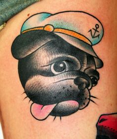 Pug Tattoo by Toby