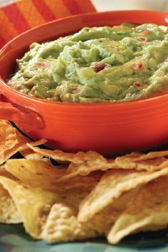 Green-Green Guacamole – Ripe avocados join cream cheese to create a creamy base for onions and tomatoes. This guacamole dip recipe has the perfect balance of lime and garlic.Try this dish for an easy appetizer that will be ready in 15 minutes.