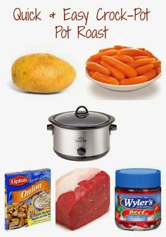Slow Cooker Pot Roast.  A Crock-Pot Dinner Recipe for Busy Nights.  An Easy Meal Idea for Families.