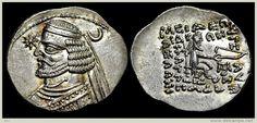 Arsacidi - Re della Partia - Orodes II (57 - 38 a.C.), Dracma, Mithradatkart, Argento (21 mm - 4.07 g.). Sellwood 47.9. - Delcampe.net