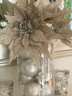 Countdown to Christmas - Christmas Mantelpiece - Silver, Pewter, glitter!
