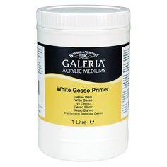 Winsor & Newton White Gesso Primer pohjustusmassalla voidaan pohjustaa kaikenlaisia maalausalustoja, esimerkiksi kangasta, puuta ja paperia. Erittäin hyvä valonkesto - ei kellastu. Öljy- ja akryylivärimaalaukseen.  #winsornewton #galeria #gesso #akryyli #acrylic #paint #painting