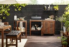 fotos de cocinas terraza diseno muebles madera ideas