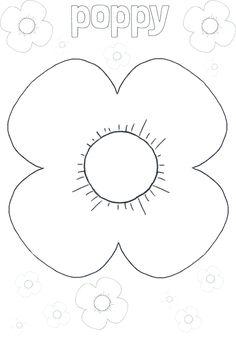 Poppy outline playdough mat Poppy Template, Flower Template, Crown Template, Heart Template, Remembrance Day Activities, Remembrance Day Poppy, Flower Crafts, Flower Art, Poppy Craft For Kids