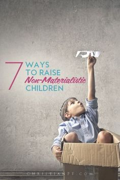 If you want to raise kids who aren't always obsessed with the latest and greatest, and who don't wrap their self-esteem in their possessions, then check out some of these tips to raise non-materialistic children - raising children, kids, #kids parenting