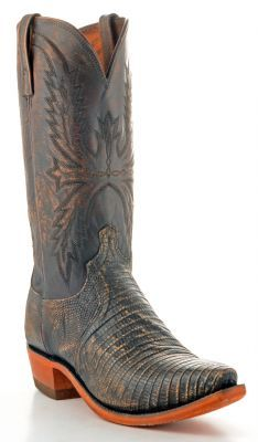 Mens Lucchese Lizard Boots Stonewashed #N8617 via @Allens Boots