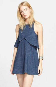Free People 'Sapphire' Flyaway Dress available at #Nordstrom