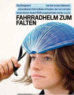 Fahrradhelm aus Papier und Karton. #IsisShiffer #JamesDysonAward Bikers, Paper, Cycling Helmet, Carton Box