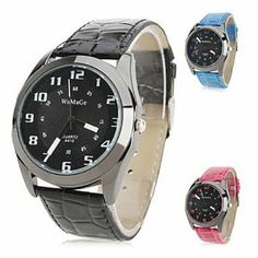 Tanboo Women's Stylish PU Analog Quartz Wrist Watch (Assorted Colors) by Tanboo. $7.99. Casual Watches. Women's Watche. Wrist Watches. Gender:Women'sMovement:QuartzDisplay:AnalogStyle:Wrist WatchesType:Casual WatchesBand Material:PUBand Color:Black, Red, Blue, PurpleCase Diameter Approx (cm):4.1Case Thickness Approx (cm):0.8Band Length Approx (cm):24.9Band Width Approx (cm):2.1