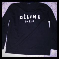 Celine crew sweatshirt Slightly worn very good condition fits true to size Tops Sweatshirts & Hoodies