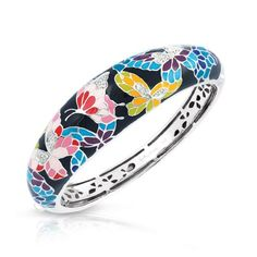Butterfly Kisses Black Bangle