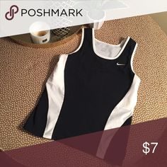 Women's Fitted Black/White Nike Tank Good condition. Fitted. Nike Tops Tank Tops