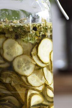 Inlagd västeråsgurka Food Inspiration, Pickles, Cucumber, Squash, Food And Drink, Gluten, Tasty, Lunch, Baking