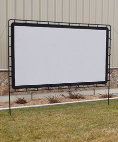 Indoor or outdoor! How fun to have a backyard party with a movie!!!? Great for weddings too! Take a look at this Entertainment Gear 132'' Indoor/Outdoor Projection Screen by Camp Chef on #zulily today!