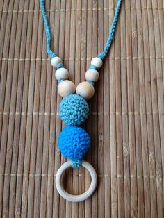 """Collar Porteo y Lactancia 2Bolas """"Turquesa-Verde"""" http://www.portakanguritos.com/portakanguritos/5254086/collar-lactancia-y-porteo-2bolas-%28ver-modelos%29.html"""