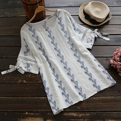 #AdoreWe #CupShe CupShe Feather the Storm Printing Casual Top - AdoreWe.com