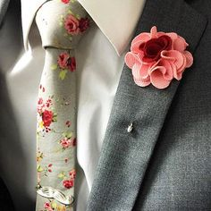 Create your combo... ($10) Smoothie Lapel Pin ($20) Silver Garden Knit Necktie…