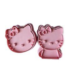 2pc Cute Cartoon bow Cat Cookie Cutter Fondant Cake Sugar...
