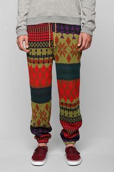 Koto Sweater Jogger Pant - black and white!!!