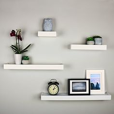 Ballucci Modern Ledge Wall Shelves Set of 4 White * Learn more by visiting the i. - Wall box decoration - Shelves in Bedroom Floating Shelf Decor, Wall Shelf Decor, Wall Shelves Design, Living Room Decor, Bedroom Decor, Shelves In Bedroom, Ikea Wall Shelves, Cube Shelves, Living Room Shelves