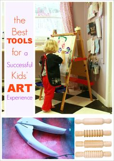 The Best Kids' Art Tools for a successful creative experience (30+ faves from The Artful Parent). Think beyond paints and markers -- the art TOOLS kids use are just as important!