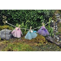 FAIRY CLOTHES LINE - WOW... this fairy garden necessity is adorable. Words can not describe the excitement of team Fairy Gardening Australia's reaction when we stocked the shelves with this divine fairy garden product. eeeeek. Visit our online store today to add this to your fairy garden. #fairygardeningaustralia