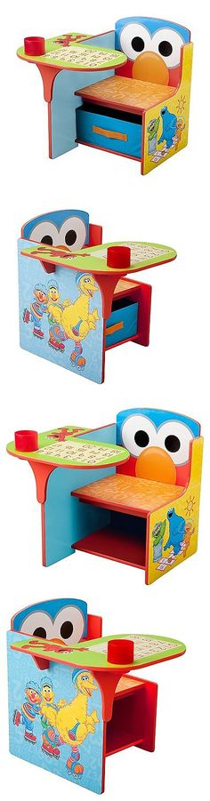 Play Tables And Chairs 66743: Kids Toddlers Children Home Chair Desk  Storage Bin Sesame Street