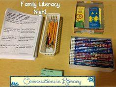 Family Literacy Night Activities: Scavenger Hunt!